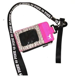 Pink Lanyard With Wallet